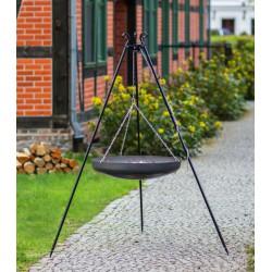 Patelnia / Wok na trójnogu - stal czarna fi 60cm