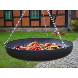 Patelnia / wok - stal czarna fi 60cm