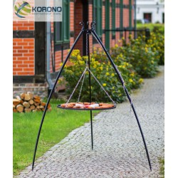 Grill ogrodowy na trójnogu 200cm - stal nierdzewna fi 60cm